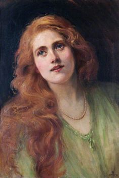 BEATRICE OFFOR, MISS B.S., C. 1905 - More at http://www.bbc.co.uk/arts/yourpaintings/paintings/miss-b-s--134071 (Thx Marie-Louise)