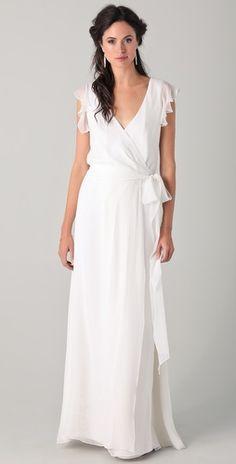 Joanna August Ceremony by Joanna August Amanda Gown  #modest #sleeves #wedding #mormon #lds #latterdaysaint #whitedress #white