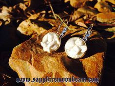 White Howlite stone handmade earrings Hippie Bohemian Pagan Wicca New Age Metaphysical Magick on Etsy, $20.00