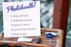 how to set up a photo booth