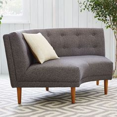 Rounded Retro Curved Sofa | West Elm