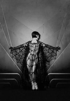 vintage burlesque costume, spider webs, butterflies, vintage horror, inspir, louis brook, vicki butterfli, louise brooks spiderweb, halloween