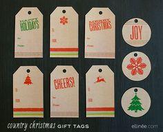 DIY 25 Printable Gift Tags