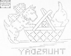 Free Vintage Scottie Dog Embroidery Patterns