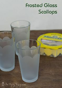 Such an easy #DIY #project that gives your #glassware that extra touch.