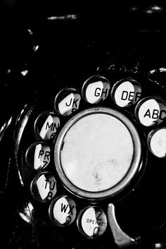 Mystery Caller - Black and White telephone 8x10 Photograph