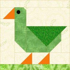 QDNW Patch Duck block pattern