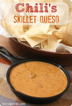 Chili's Copycat Skillet Queso - It makes for a great appetizer dip at parties!