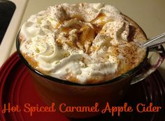 Hot Spiced Caramel Apple Cider - New Mama Diaries