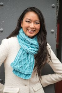 Iced Aqua Scarf - from the Fall 2014 Issue of Love of Knitting magazine