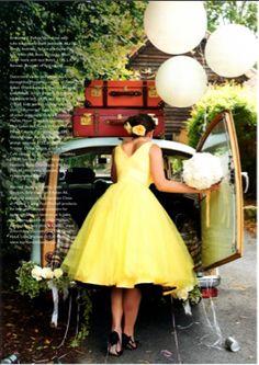 Lemon Bridesmaid dress