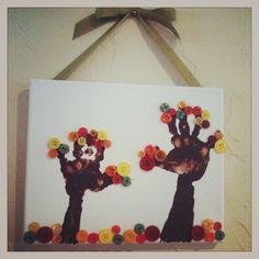 Fall handprint craft!