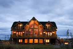love log homes...I want THIS ONE!!!