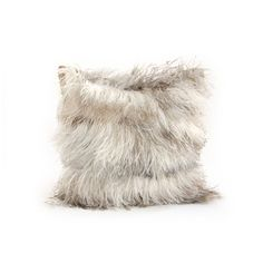 Ostrich feather pillow by Dransfield & Ross. love