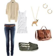 I have most of this outfit....I LOVE TOMS!