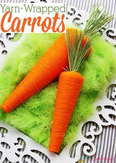 Yarn-Wrapped Carrot Craft