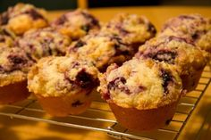 Best Blueberry Muffins from America's Test Kitchen by @Lisa Bains.