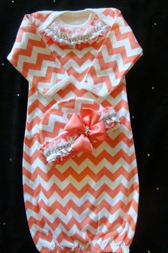 NEWBORN baby girl take home gown outfit by BeBeBlingBoutique, $40.00