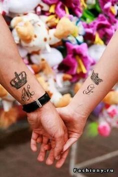 King and Queen Couples Tattoo If I ever convince eugene to not be afraid of needles, I want us to have this but different placement