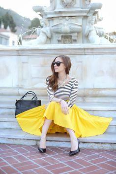 bright yellow + stripes.