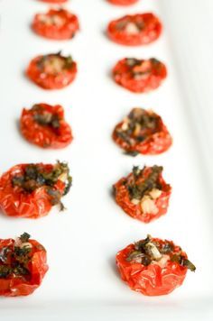 Oven Roasted Cherry Tomatoes with Basil and Garlic by The Endless Meal