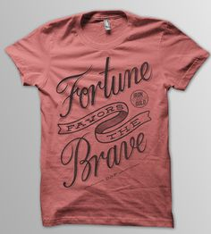 Fortune Favors the Brave T-Shirt - Heather Red | Mens T-Shirts | DSF Clothing Company and Art Gallery | Scoutmob Shoppe | Product Detail