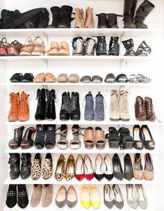 Katherine Power's shoe closet