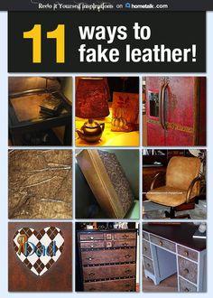11 easy ways to fake leather!