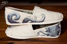 Octopus Themed Custom TOMS Shoes
