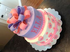 Pink & Purple Birthday Cake