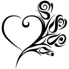 heart tattoo on hip, rose bud tattoo, tattoos initials, heart tattoo ideas, rose tattoos, family tattoos with names, hip tattoos for girls, girls tattoos ideas, heart tattoos