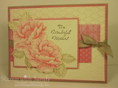 Stamp With Sandy: Stippled Blossoms for Two Challenges
