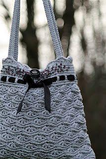 crochet bags, crochet stitches, crocheted bags, crochet purses, leather bags, grey purs, bag patterns, stitch patterns, crocheted purses