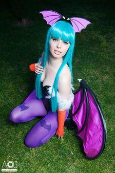 Morrigan cosplay - Darkstalkers by ThelemaTherion.deviantart.com on @deviantART