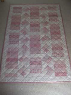 Jelly Roll Quilt; cute for babies