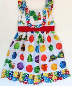 Very Hungry Caterpillar Dress by WildOliveKids on Etsy, $38.00