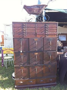 antique file cabinet | Antique Library And File Cabinets
