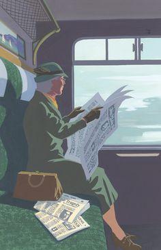Andrew Davidson - illustration for Agatha Christie's Miss Marple novels