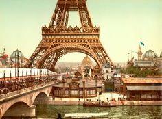 Eiffel Tower, grounds, Exposition Universelle, 1900, by 20x200 Artist Fund   20x200