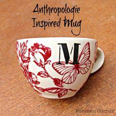 Tutorial: Anthropologie inspired mug.