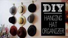 #DIY Hanging Hat Organizer | beautybitten