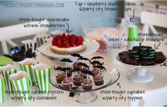 Quick and Easy Dessert Table - Mustache Bash
