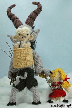 krampus doll, craft, winter holidays, amigurumi charact, felt stuff, sake krampus, merri krampus, amigurumi crochet, krampus amigurumi