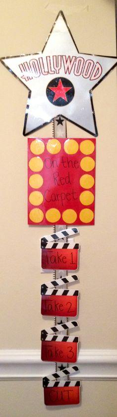 hollywood stars, star student ideas, behavior chart, school themes, red carpet school theme