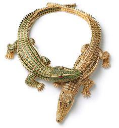 Cartier crocodile necklace..emeralds & diamonds