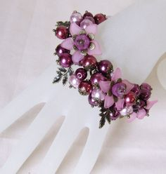 Floral Charm bracelet  Berry Delightful  by whiteravendesignsau, $49.00