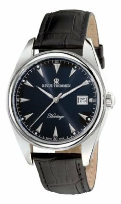Revue Thommen Men's 21010.2537 Heritage Mens Black Leather Strap Automatic Watch Watch Revue Thommen. $444.99. Stainless steel case. Black dial. Black leather strap. Automatic movement. Water-resistant to 50 m (165 feet). Save 56% Off!
