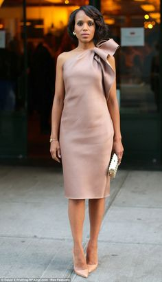 Kerry Washington in Lanvin  @ the Elle and Tods dinner 2013