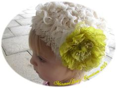 Ansley's wedding hat - made from muslin and scrim - by MarmeeDear