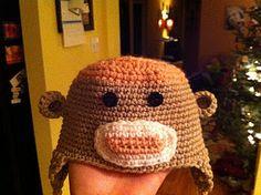 My baby girl sock monkey hat :)